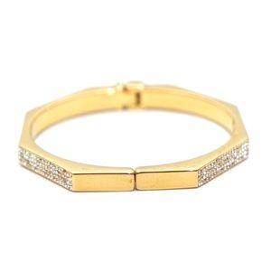 Vita Fede Gold Crystal Hinge Bracelet